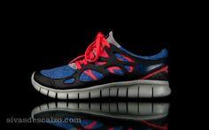 Wmns Nike Free Run+ 2 EXT  Azul / Rojo / Gris / Negro