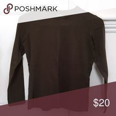 Basic Brown Long-Sleeved Top Purchased awhile ago but never worn. Still in PERFECT condition, true to the quality of all L.L. Bean products! Very high quality thick fabric, perfect for a capsule wardrobe. L.L. Bean Tops Tees - Long Sleeve