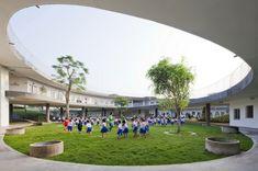 Kindergarten heute - Es geht um einen Umweltkindergarten in Vietnam, wo man die Nachhaltigkeit unter anderem durch die Architektur den Kleinen beibringt...