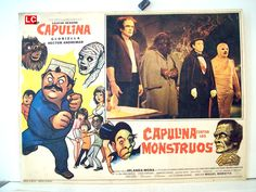 """CAPULINA CONTRA LOS MONSTRUOS"" MOVIE POSTER - ""CAPULINA CONTRA LOS MONSTRUOS"" MOVIE POSTER"