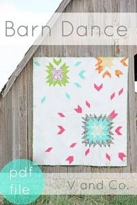 d3ead86ba9b Image of Barn Dance Quilt Pattern- PDF FILE Throw Quilt Size