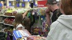 """Store managers in West Virginia are finding that their customers like healthy checkout. One Walmart Store Manager heard from a shopper, """"Normally, I've got my kids tugging on me in the checkout line for a candy bar. Today, on the way home, they ate a banana."""" Healthy checkout works!"""