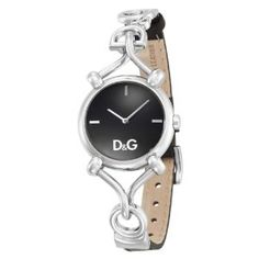 Dolce and Gabbana Silver watch with black leather wriststrap. Just so the city girl can stay on time! Simple but beautiful. A timeless time piece. #StockholmChic