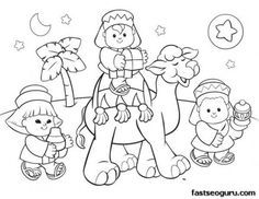 Christmas coloring cards for kids - printable free ...