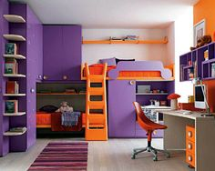 Teen Girl Bedrooms idea - Georgeous yet breathtaking teenage girl room pointer. For added brilliant decor tips why not visit the link to read the pin idea now Teenage Girl Bedroom Designs, Teenage Girl Bedrooms, Bedroom Orange, Purple Bedrooms, Small Bedrooms, White Bedroom, Bedroom Paint Colors, Bedroom Color Schemes, Bedroom Sets