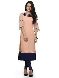 Peach Straight Kurta
