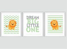 Oh! I want it! Baby Boy Nursery Art Chevron Lion Nursery by SweetLittleBarn, $39.99