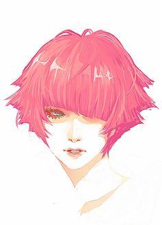pink hair by jounetsunoakai
