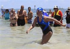 My New Role Model Diana Nyad makes history swimming from Cuba to Florida - World News (she's 64 y.o.)