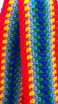 Rainbow scarf