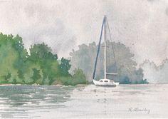 sailboat watercolor - Pesquisa Google