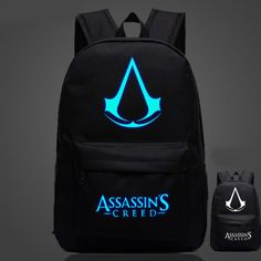 OZUKO Famous Brand High Quality Lumious Assassins Creed Backpack Hot Game Boy Girl School Bags For Teenagers Oxford Backpacks Asesins Creed, All Assassin's Creed, Cheap School Bags, School Bags For Girls, Colorful Backpacks, Kids Backpacks, School Backpacks, Game Boy, Assassins Creed Logo