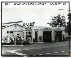 Gulf Station, Texas and Goss Avenues, Louisville, Ky. Old Images, Old Pictures, Old Photos, Old Gas Stations, My Old Kentucky Home, Louisville Kentucky, The Good Old Days, Historical Photos, Places To Visit