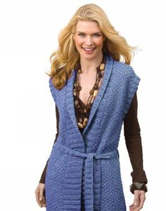 Caron® Simply Soft® Eco Tunic Vest #knit #pattern