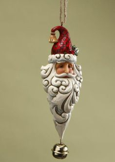 Christmas: Jim Shore - Santa with Dangle Bell Ornament                                                                                                                                                      Más