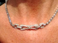 Boucher Rhinestone Choker Necklace no. 23 / by Cheapvintagefashion, $159.50