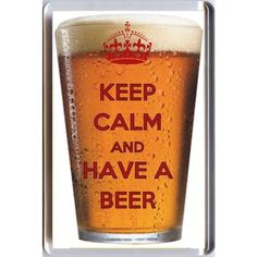 KEEP CALM AND AND HAVE A BEER Fridge Magnet 7 x 4.5cms Unique Birthday... ❤ liked on Polyvore featuring home, home decor, office accessories, glass refrigerator, magnets fridge, glass fridge, glass magnets and magnets refrigerator