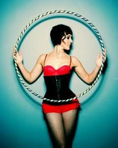 Fishnets and a hula hoop. Doesn't get much cooler than that.