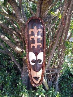 """Tribal Tiki Wood Wall Mask Patio Tropical Bar Decor 20/"""""""