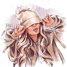 Rock Chic, Glam Rock, Fashion Moda, Skirt Fashion, Hair Sketch, Fashion Design Sketches, Diy Hairstyles, Hairstyle Ideas, Drawing Hairstyles