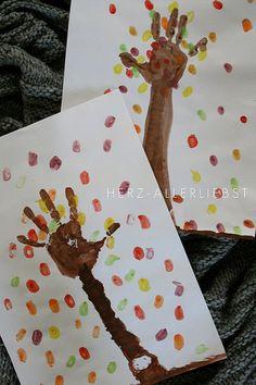 fall tree - hand prints