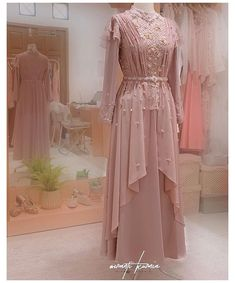 Dress Brokat Muslim, Dress Brokat Modern, Kebaya Modern Dress, Kebaya Dress, Dress Pesta, Muslim Dress, Model Kebaya Brokat Modern, Model Kebaya Muslim, Kebaya Lace