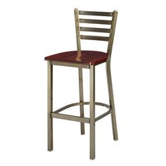 "Regal 24""  Bar Stool Upholstery: Black Wood, Seat Height: 26"", Finish: Bronze"