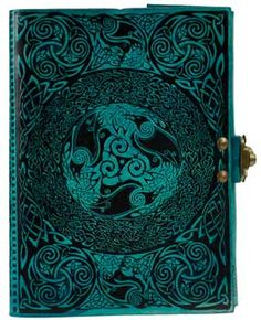 Blue Celtic leather blank book w/ latch [BBBLCELB] - $39.95 : Wicca, Pagan and Occult Practice Mega Store - www.thetarotoracle.com
