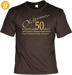Geschenk zum 50.Geburtstag / cooles Fun T-Shirt : Oldtimer 50 -- Goodman Design Geburtstag Funshirt 50 Gr: 3XL Farbe: braun - Shirts zum 50 geburtstag (*Partner-Link)