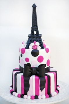 Would love it with a little less pink!-Eiffel Tower Cake… Would love it with a little less pink! Eiffel Tower Cake… Would love it with a little less pink! Paris Birthday Cakes, Paris Themed Cakes, Paris Cakes, Cake Birthday, Happy Birthday, Spa Birthday, 11th Birthday, Birthday Wishes, Birthday Parties