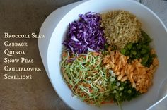 Asian Quinoa Broccoli Slaw, www.mountainmamacooks.com #glutenfree #vegan #broccolislaw