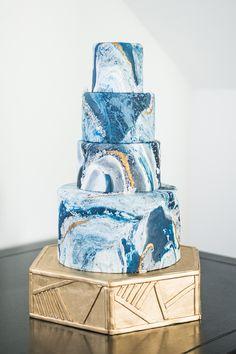 geode inspired wedding cake - http://ruffledblog.com/art-gallery-inspired-wedding-shoot-with-agate #weddingcake #cakes