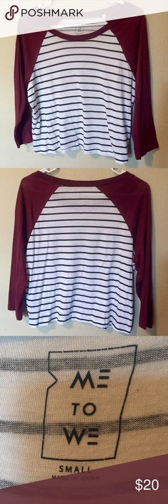 3/4 Sleeve PacSun top Cropped tee with 3/4 sleeve. Only worn a handful of times PacSun Tops Tees - Long Sleeve