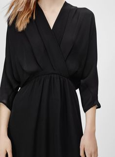 Image result for purple aritzia silk wrap dress