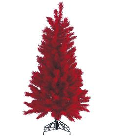 Red slimline pine Christmas tree A narrower profile red artificial Christmas tree that is ideal for smaller spaces. http://www.dzd.co.uk/Christmas-Artificial-Christmas-Trees/c3_7/p324/Red-slimline-pine-Christmas-tree/product_info.html