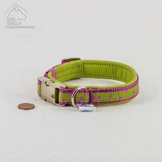"""Mini Leder Halsband """"Dots"""" grün  24,90€"""