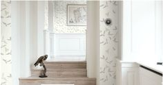 I love it! This airy bird wallpaper is from the Nordic Blossom collection. Can find it on flugger.dk