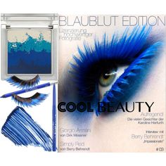 Cool Blue Eyeshadow by coppin-s on Polyvore featuring beauty, Sue Devitt, By Terry, Illamasqua, Stila and Urban Decay