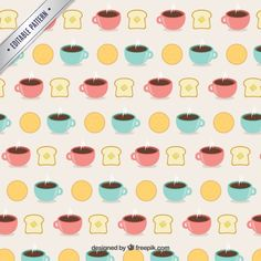 padrão de pequeno-almoço Vetor grátis