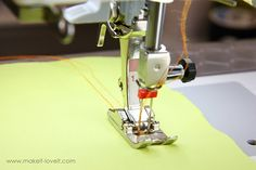 How to sew with a double needle, use an extra bobbin so you have the same color thread. Brilliant!