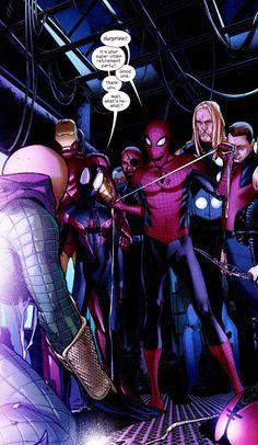 Spider-Men, Iron Man, Thor, Hawkeye & Nick Fury vs Mysterio