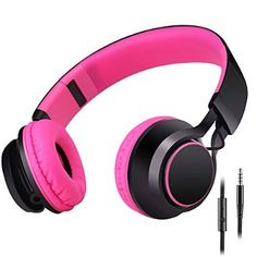 Sound Intone HD30 Stereo Lightweight Folding Portable Headsets Kids or Adults Headphones Includes In-line Microphone and Controller for Talk with Detachable 3.5 Mm Audio Cable,Stretchable Headband,Great Heavy Bass,with Soft Earpads Earphones Men and Women Boys and Girls Earpieces for iPhone,All Android Smartphones,Pc,Laptop,Mp3/mp4,Tablet Ear phones (Rose)