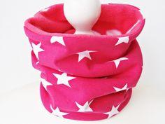 Schlauchschals - ♥ Schlupfschal ♥ Sterne ♥ Pink - ein Designerstück von nadelspinnerei bei DaWanda