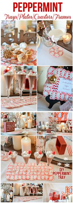 Christmas ● DIY ● Tutorial ● Peppermint Serving Tray!