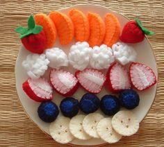 Fun Felt Food Sewing Pattern Felt Fruit Salad Pdf by lisajhoney