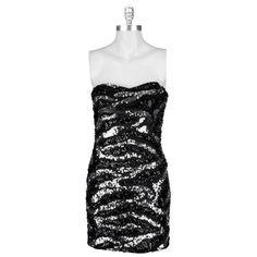 As U Wish Juniors Zebra Sequin Tube Dress #VonMaur