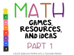 Math ideas for the primary classroom part 1                              …