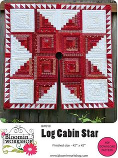 Looking for your next project? You're going to love Log Cabin Star Tree Skirt by designer Anita Peluso.