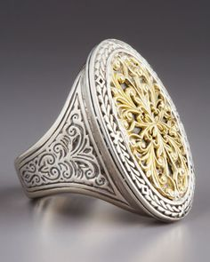 Oval Filigree Ring by Konstantino at Neiman Marcus.