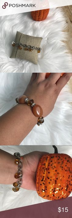 NEW Fall time dangle bracelet *Brand new *Orange dangle bead bracelet *Slip on stretch bracelet Boutique Jewelry Bracelets